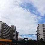 台風一過の新松戸