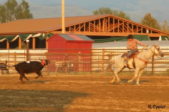Bill and Blue at a ranch rodeo.