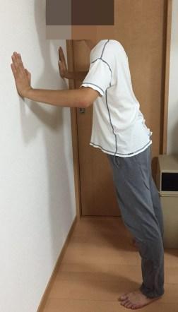 壁立て伏せ