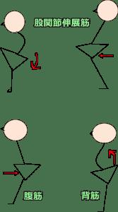 矢状面の姿勢調節