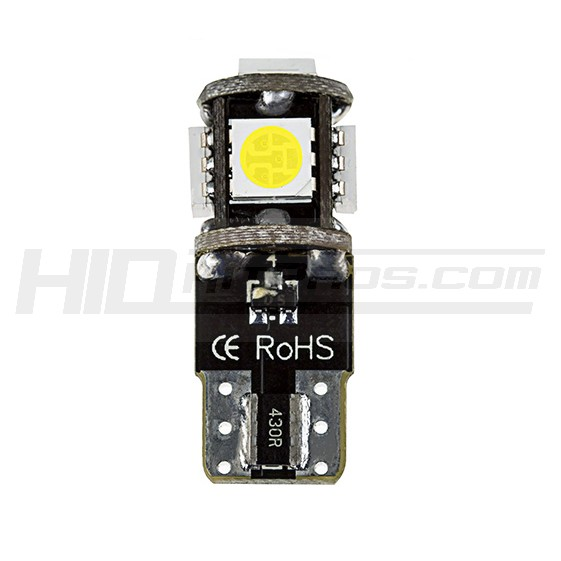 4* Blue T10 194 168 2825 5-SMD 5050 LED Car Lights Canbus Error Free Bulb Backup