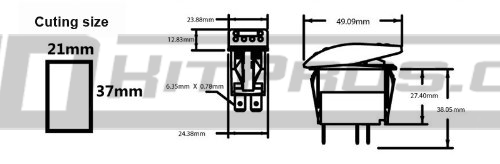 ARB Style Blue LED Rocker Switch - Many Sayings! | HID Kit Pros