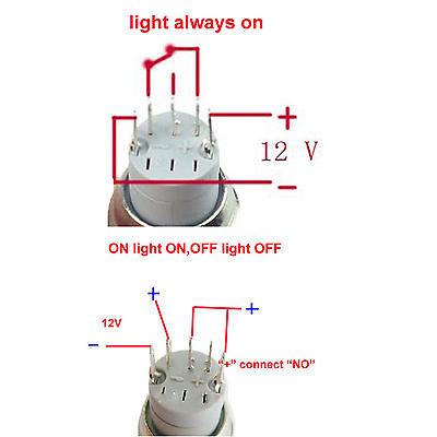 Chrome LED Angel Eye Halo Push Button Switch   HID Kit Pros