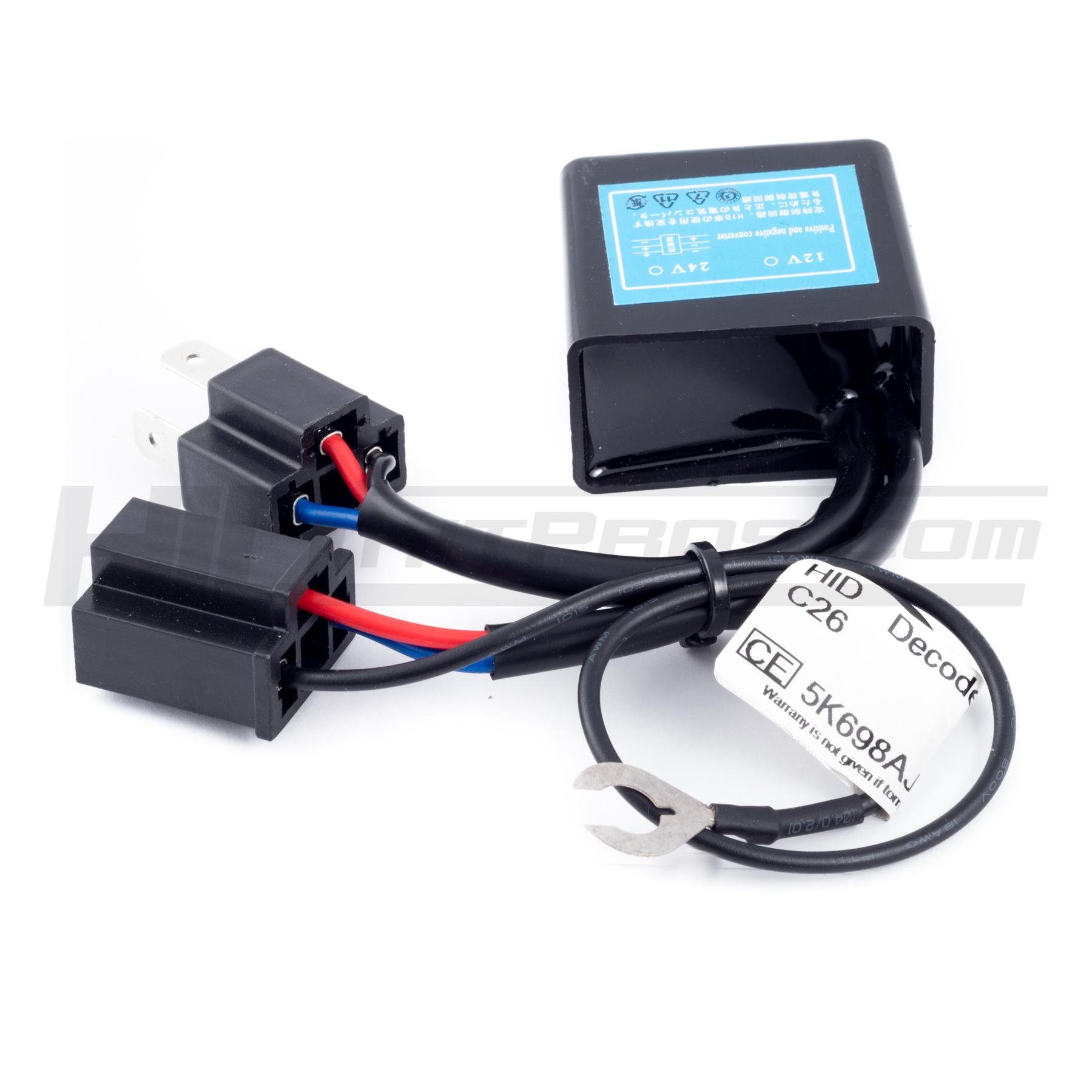 Lumawerx H4 9003 Switching Ground Polarity Module New Headlight Bulb Male Wire Harness Connector Wiring Plug Socket