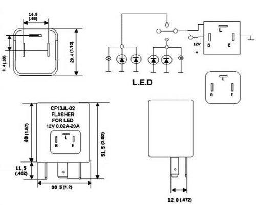 electronic flasher relay wiring diagram cf13  ep34  led flasher relay module  cf13  ep34  led flasher relay module
