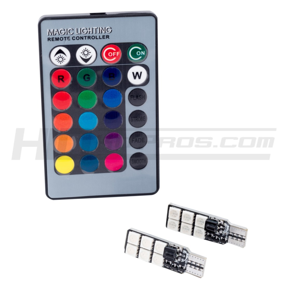 Hkp Color Changing T10 194 Rgb Led Kit Hid Pros Wiring Harness