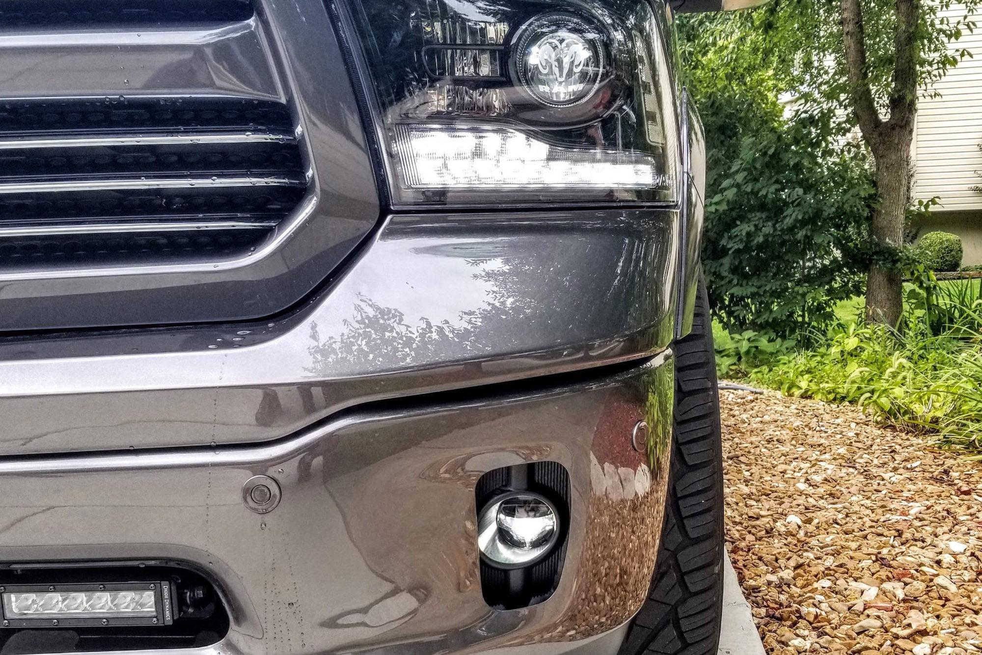 Projector Cob LED Fog DRL Spot Lights Angel Eyes Pair For Nissan CARS