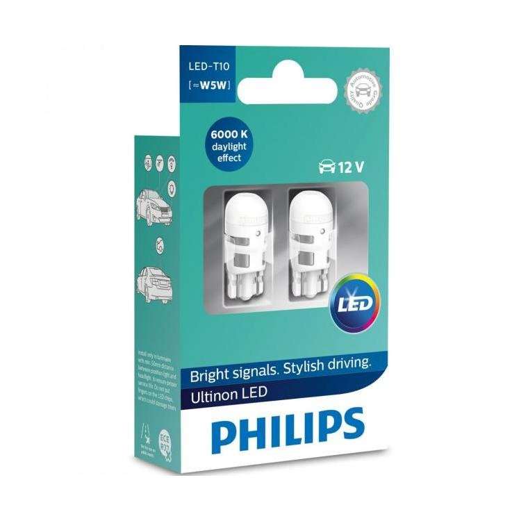 T10/194: Philips Ultinon LED Bulbs (Pair) | HID Kit Pros