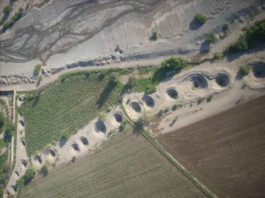 Panoramic View of one of the aqueducts of Nasca