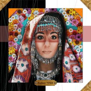 Digital artwork of Queen Esther in a modern interpretation