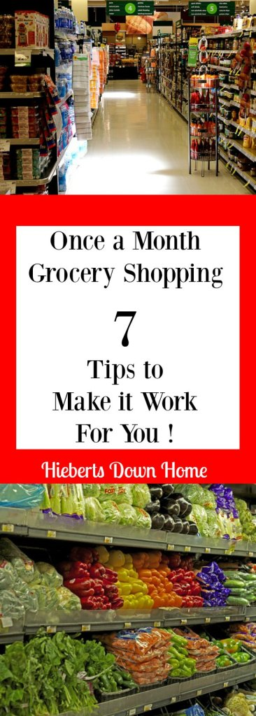 Once a Month Grocery Shopping. Seven Tips to make it work for you!