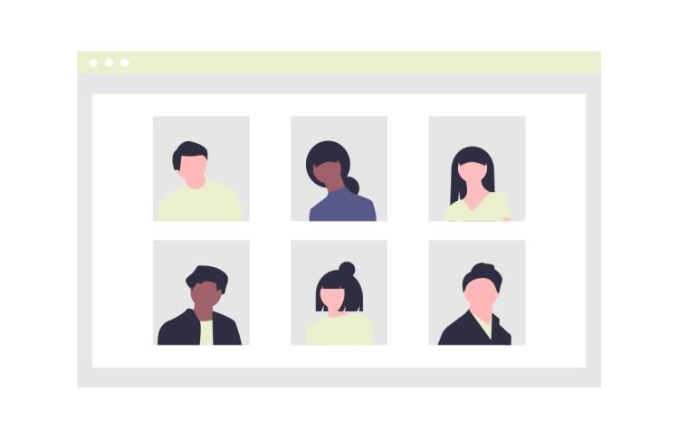 Illustration für Videokonferenz.