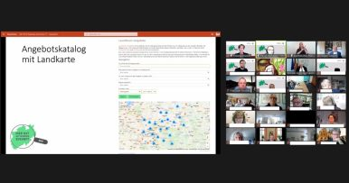 Screenshot der Vorstellung der Projektergebnisse.