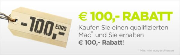 100 Euro Rabatt bei MacTrade fuer MacBook