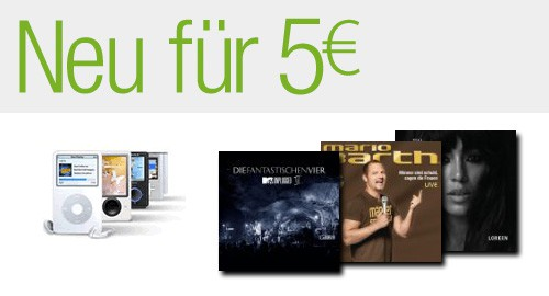 MP3 Alben fuer 5 Euro