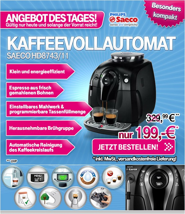 Philips Saeco HD 8743_11 Xsmall Steam Kaffeevollautomat