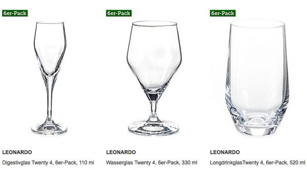 LEONARDO Gläser Vasen Dekoration günstiger kaufen Angebot