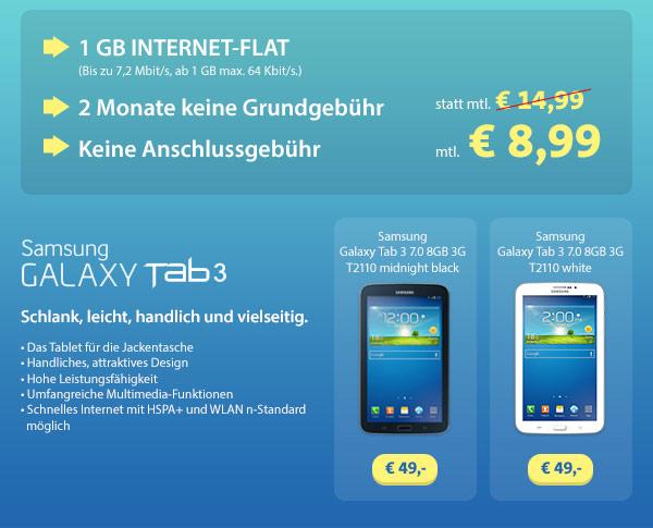 o2 go Surf Flat M mit Samsung Tablet