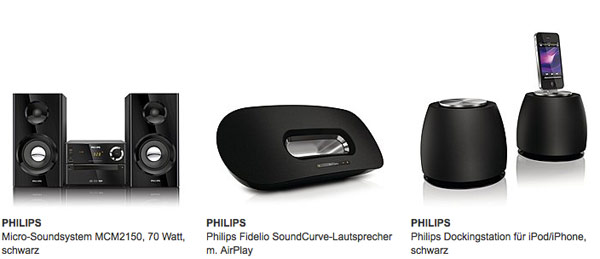 Philips Kopfhörer und Soundring günstiger