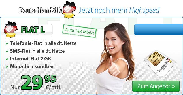 günstige Allnet-Flat SMS-Flat und 2GB Internet-Flat