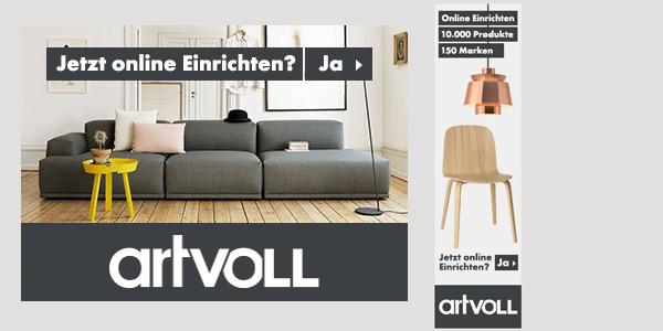 artvoll.de Gutschein und Rabatt für Design Möbel und Produkte