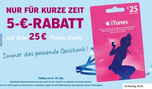 Apple iTunes Karten günstiger kaufen
