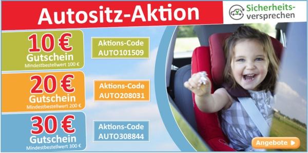 Gutschein für Autokindersitze Römer Kiddy Cybex Maxi Cosi