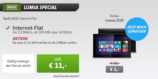 Base Internetflat mit Nokia 2520 Tablet