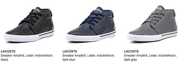 LACOSTE Schuhe für Männer und Frauen günstiger
