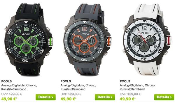 günstige Armband Uhr Pools für unter 50 Euro