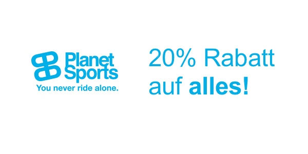 planet-sports.de Gutschein Coupon 20% Rabatt auf alles