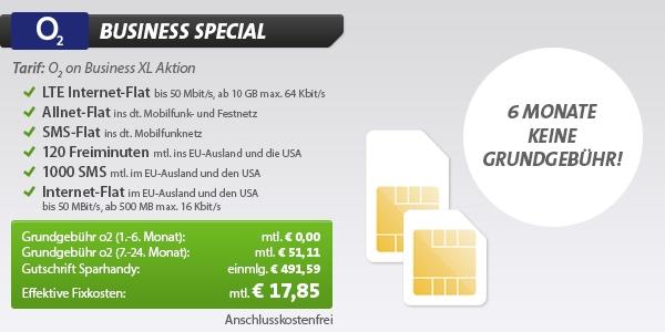 o2 Business Tarif für unter 20 Euro im Monat