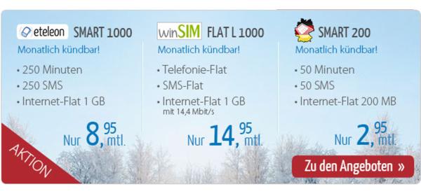 günstiger Smartphonetarif für unter 3 Euro im Monat