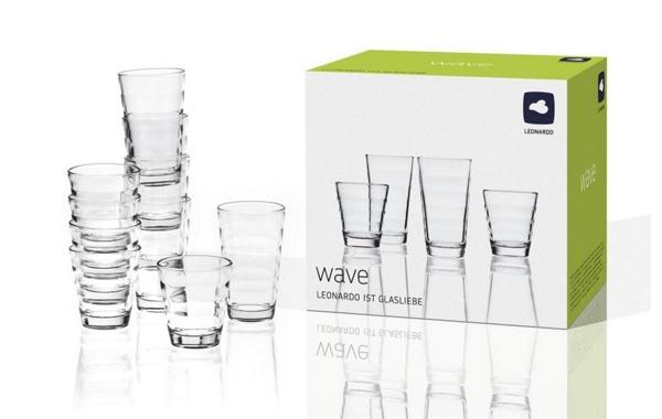 günstiges Gläserset 12 teilig LEONARDO Wave