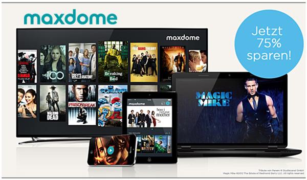 Maxdome Angebot testen 4 Monate nur 8 Euro