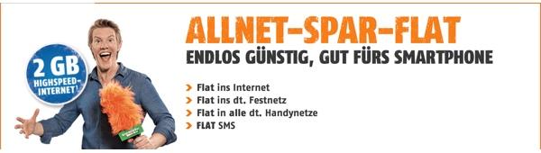 günstige Allnet-Flat mit 2GB Surfflat im o2 Netz