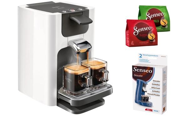Dank Eines Gutscheins Gibt Es Die Philips SENSEOR Kaffeepadmaschine HD7863 Quadrante Mit Zubehor Bei OTTOde Fur Nur 6995 Euro