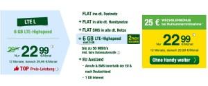 günstiger Handyvertrag mit EU Flat und 6GB Surfvolumen
