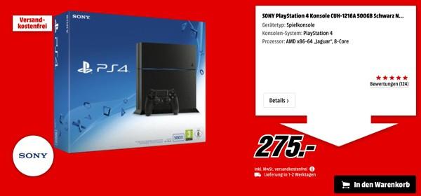 Playstation 4 unter 300 Euro Media Markt