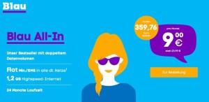 günstiger Handytarif blau.de unter 10 Euro im Monat