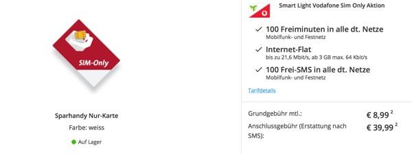 Vodafone Surfvolumen und Freiminuten