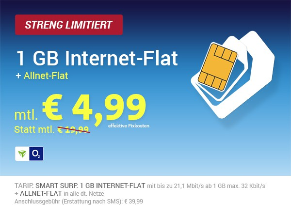 sehr günstiger Handytarif unter 5 Euro im Monat Allnet-Flat