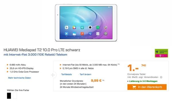 Huawei Mediapad T2 10.0 LTE Pro günstiger kaufen