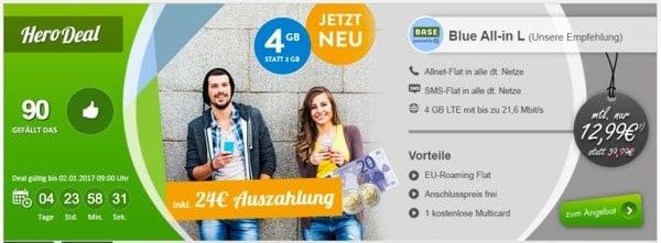 günstiger Smartphone Tarif mit LTE EU Flat