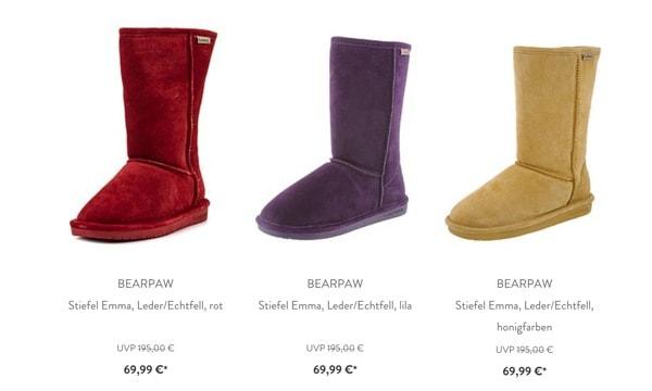 BEARPAW Boots und Stiefel günstiger kaufen