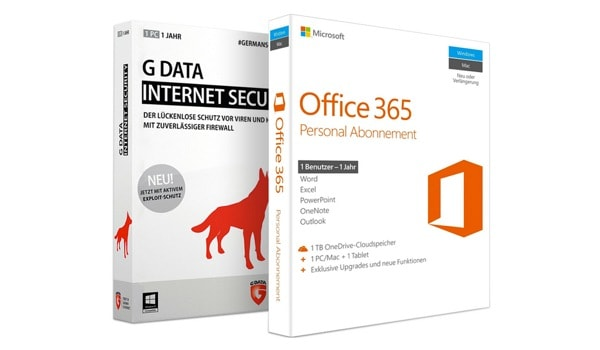 Microsoft Office 365 Personal 1 PC Mac 1 Tablet 1 Jahr inkl. G Data Internet Security günstiger kaufen