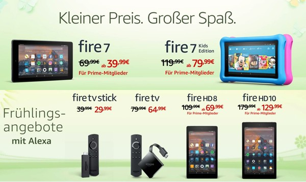 Amazon Fire Tablet Stick TV günstiger kaufen