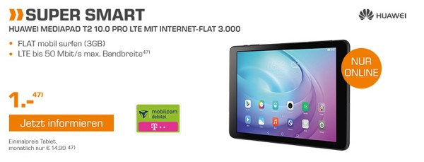 Huawei MediaPad T2 Pro 10 LTE Telekom Netz