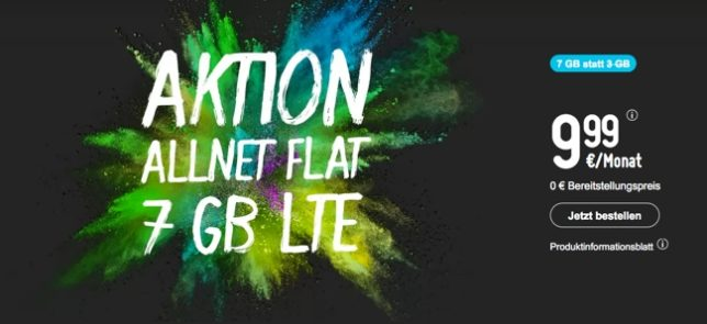 7 GB LTE Handytarif bis 10 Euro