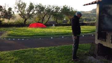 Campingplatz in Cinco Ribeiras auf Terceira